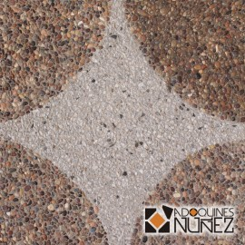Circulo grano gris