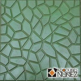 Rústico mosaico verde